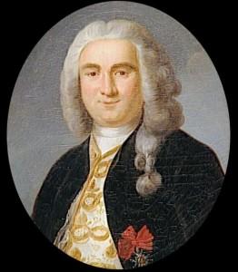 Portrait de Mahé de la Bourdonnais par Antoine Graincourt (1748-1823), huile sur toile, XVIIIème siècle. Lorient, musée de la Compagnie des Indes, dépôt du musée de Versailles.