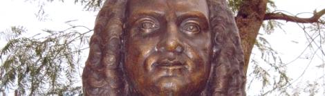 Buste de Bertrand-François Mahé de La Bourdonnais à Pamplemousses
