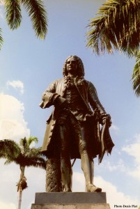 Statue Mahé de La Bourdonnais à Port-Louis (île Maurice)