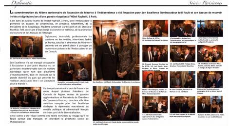 RECEPTION pour le 48ème anniversaire de l'indépendance de MAURICE